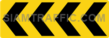 """2-67 Construction Signs """"Curve marker"""" – Multiple chevrons are aligned pointing to the right."""