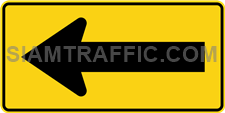 "2-68 Work Signs ""One Direction Arrow"" – The way is diverted in the direction of the arrow. Drivers must drive slowly and carefully."