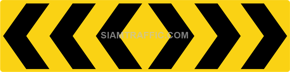 "2-69 Construction Signs ""Curve marker"" – Multiple chevrons are aligned pointing to the right."