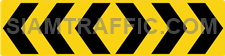 """2-69 Construction Signs """"Curve marker"""" – Multiple chevrons are aligned pointing to the right."""