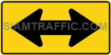 "2-70 Work Signs ""Two Direction Arrow"" – The way is diverted in the direction of the arrow. Drivers must drive slowly and carefully."