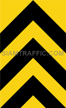 """2-71 Warning Danger Signs """"Direction Warning Sign"""" - The way is diverted in the direction of the arrow. Drivers must drive slowly and carefully."""