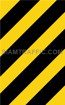 """2-72 Warning Danger Signs """"Direction Warning Sign"""" – The way is diverted in the direction of the arrow. Drivers must drive slowly and carefully."""