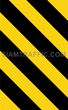 """2-73 Warning Danger Signs """"Direction Warning Sign"""" – The way is diverted in the direction of the arrow. Drivers must drive slowly and carefully."""