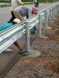 Installation of guard rail at Cambodia