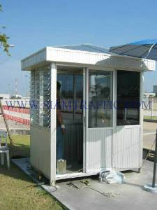 Installation work of the guard house at Toyota Bangbo