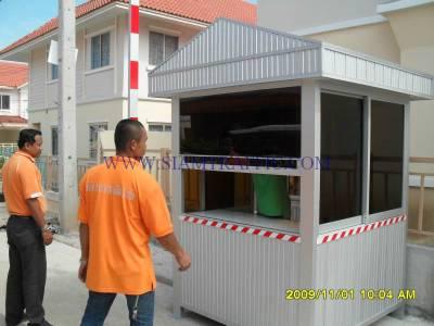 Installation work of guard house at Preuksa Real Estate