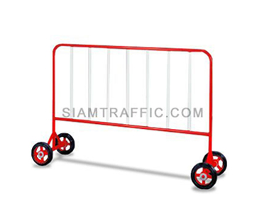 Steel Barrier : Type B Barrier (With Wheels) 1.5 meter length x 110 cm. height x 50 cm. width