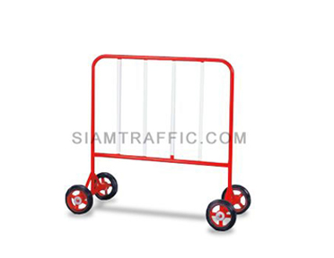 Steel Barrier : Type B Barrier (With Wheels) 1 meter length x 110 cm. height x 50 cm. width