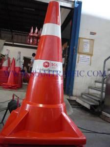 Traffic cone attached with Ciment Thai logo