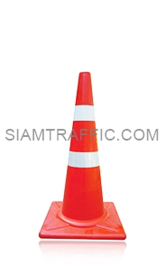 Traffic Cone 80 cm. attached with reflective Sticker.