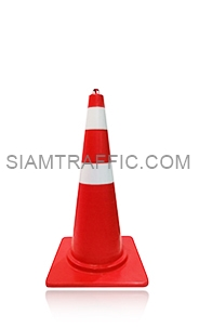 Red Traffic Cone 80 cm. attached with reflective Sticker.