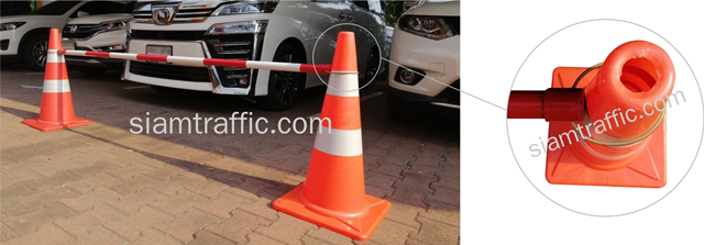 Non-Retractable Traffic Cone Bar