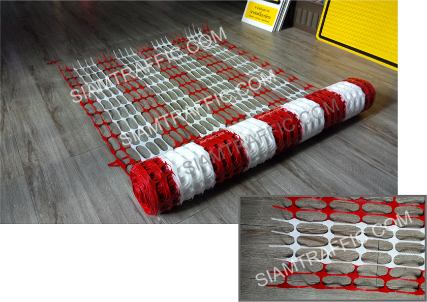 Safety and barrier fence Red&White